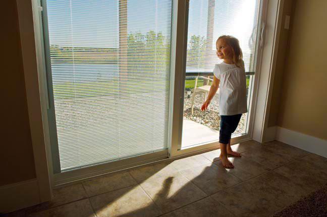 Vinyl Windows With Blinds Inside : Vinyl sliding patio door with internal blinds nj