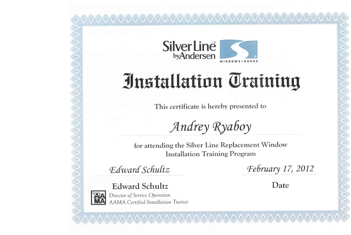 Certifications New And Replacement Windows Roofing And