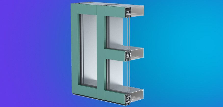 Ycw 750 Xt High Performance Curtain Wall Featuring Dual