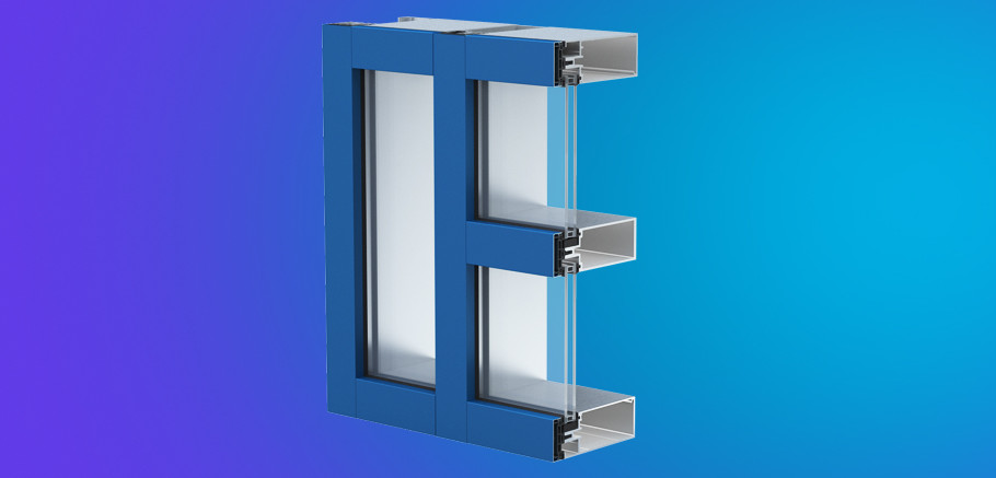 Ycw 750 Ogp Thermally Broken Curtain Wall Featuring
